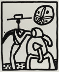 Fine Art - Work on Paper:Print, Keith Haring (1958-1990). Untitled, 1989. Silkscreen onRives BFK paper. 30 x 22 inches (76.2 x 55.9 cm) (sheet). Ed. 34...