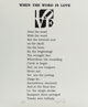 Robert Indiana (b. 1928) When the Word is Love, from The Book of Love Portfolio, 1997 Embossment in colors on A.N