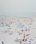 Fine Art - Work on Paper:Print, Massimo Vitali (b. 1944). Untitled, from Knokke BeachPolyptych, from Landscapes and Figures Portfolio, 2006.Of...