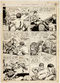 Original Comic Art:Panel Pages, Dan Barry Action Comics #150 Story Page 8 Original Art (DCComics, 1950)....