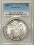 1885-CC $1 MS61 PCGS. PCGS Population: (295/21363). NGC Census: (196/10227). CDN: $645 Whsle. Bid for problem-free NGC/P...
