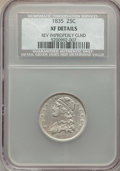 Bust Quarters: , 1835 25C -- Reverse Improperly Cleaned -- NCS. XF Details. NGC Census: (58/299). PCGS Population: (126/349). XF40. Mintage ...