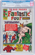 Silver Age (1956-1969):Superhero, Fantastic Four Annual #1 (Marvel, 1963) CGC VF/NM 9.0 Off-white pages....