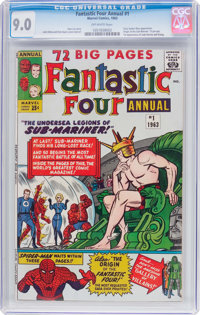 Fantastic Four Annual #1 (Marvel, 1963) CGC VF/NM 9.0 Off-white pages