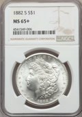Morgan Dollars, 1882-S $1 MS65+ NGC. NGC Census: (32221/27610). PCGS Population: (33088/25277). MS64. Mintage 9,250,000....