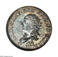 Early Half Dimes: , 1792 H10C Judd-7, Pollock-7, R.4, MS63 NGC. One of the mosthistorical and important coins from the early Philadelphia peri...