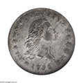 Early Dollars: , 1795 $1 Flowing Hair, Two Leaves MS65 NGC. B-1, BB-21, R.1. One ofthe very finest known of this date and type. A remarkab...
