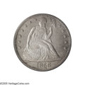 Seated Dollars: , 1856 $1 MS62 PCGS. Mint State Seated Liberty dollars from the1850s, through 1857, are all elusive regardless of the date ...