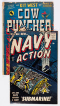Golden Age (1938-1955):War, Navy Action and Cow Puncher Group of 2 (Atlas/Avon, 1950s)....(Total: 2 Comic Books)
