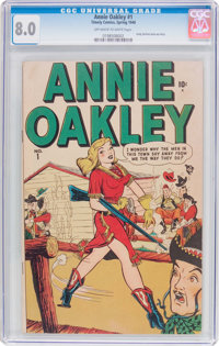 Annie Oakley #1 (Timely, 1948) CGC VF 8.0 Off-white to white pages