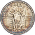 Standing Liberty Quarters, 1917 25C Type One MS67 Full Head PCGS. CAC....