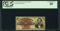 Fractional Currency:Fourth Issue, Fr. 1374 50¢ Fourth Issue Lincoln PCGS Extremely Fine 40....