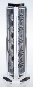 Fine Art - Sculpture, American:Contemporary (1950 to present), Victor Vasarely (1906-1997). Holld (Moiré Tower), 1989.Perspex with serigraph. 26-1/4 x 7 inches (66.7 x 17.8 cm). Ed. ...