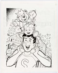 Original Comic Art:Splash Pages, Stan Goldberg Jughead's Baby Tales #1 Pull-Out Poster Pin-UpOriginal Art (Archie Comics, 1994)....