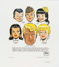 Milton Caniff Terry and the Pirates/Steve Canyon Signed Limited Edition Print #180/200 (News America Syndicate/Day