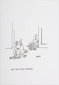 "Original Comic Art:Comic Strip Art, George Booth ""An Old Old Story"" Unpublished Single Panel CartoonOriginal Art Illustration dated 9-2015 (2015)...."