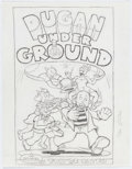 Original Comic Art:Miscellaneous, Kim Deitch Dugan Under Ground Cover Preliminary Artwork Original Art (Metropolitan Books, 2001)....