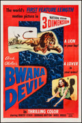 """Movie Posters:Adventure, Bwana Devil (United Artists, 1953). One Sheet (27"""" X 41"""") 3-DStyle. Adventure.. ..."""