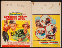 """Bad Day at Black Rock & Other Lot (MGM, 1955). Trimmed Window Cards (2) (14"""" X 21"""" & 14"""" X 21.5&q..."""