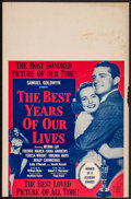 """Movie Posters:Drama, The Best Years of Our Lives (RKO, R-1954). Trimmed Window Card (14"""" X 21.5""""). Drama.. ..."""
