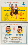 """Movie Posters:Comedy, The Wackiest Ship in the Army & Other Lots (Columbia, 1961). Half Sheets (4) (22"""" X 28"""") & Trimmed Half Sheet (17.5' X 25.5""""... (Total: 5 Items)"""