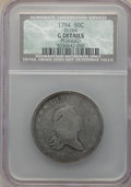 Early Half Dollars, 1794 50C O-104, T-11, R.5 -- Plugged -- NCS. Good Details....