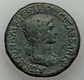 Ancients:Roman Imperial, Ancients: Agrippina Senior (died AD 33). Orichalcum sestertius(26.35 gm). VF, porosity. ...