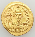 Ancients:Byzantine, Ancients: Phocas (AD 602-610). AV solidus (4.50 gm). MS,scratches....