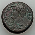 Ancients:Roman Provincial , Ancients: EGYPT. Alexandria. Hadrian (AD 117-138). AE drachm (24.72gm). VF. ...