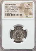 Ancients:Roman Imperial, Ancients: Philip I (AD 244-249). AR antoninianus (3.98 gm). NGC MS4/5 - 3/5. ...