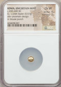 Ancients:Greek, Ancients: IONIA. Uncertain Mint. Ca. 600-550 BC. EL 1/24 stater(0.57 gm). NGC Choice VF 4/5 - 3/5. ...