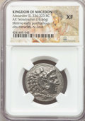 Ancients:Greek, Ancients: MACEDONIAN KINGDOM. Alexander III the Great (336-323 BC).AR tetradrachm (16.66 gm). NGC XF....