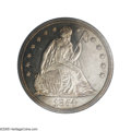 Proof Seated Dollars: , 1854 $1 PR65 Cameo PCGS. The Coinage Act of February 1853 served toreduce the weight of smaller denomination silver coins...