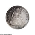 Proof Seated Dollars: , 1855 $1 PR62 PCGS. The business strike 1855 Seated dollar wasproduced to the extent of only 26,000 pieces, and, since mos...