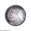 Proof Seated Dollars: , 1864 $1 PR66 NGC. An important opportunity to acquire a Gem Proofexample of this elusive Civil War Seated Dollar issue. T...