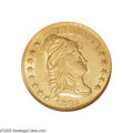 Early Quarter Eagles: , 1802/1 $2 1/2 MS62 NGC. Breen-6118, Bass-3009, R.4. Thiscanary-gold piece is unmarked for the grade and displaysconsidera...