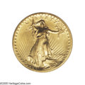 High Relief Double Eagles: , 1907 $20 High Relief, Wire Rim MS63 PCGS. A bright canary-gold representative with mildly reflective fields and impressive ...