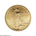 Saint-Gaudens Double Eagles: , 1909 $20 MS66 NGC. A satiny Gem that is bathed in yellow-goldluster and magnificent eye appeal. The strike is typically st...