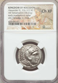 Ancients:Greek, Ancients: MACEDONIAN KINGDOM. Alexander III the Great (336-323 BC).AR tetradrachm (16.92 gm). NGC Choice XF....