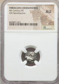 Ancients:Greek, Ancients: THRACE. Chersonesus. Ca. 386-338 BC. AR hemidrachm. NGCAU....