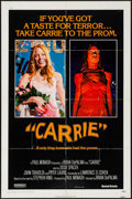 """Movie Posters:Horror, Carrie & Other Lot (United Artists, 1976). One Sheets (2) (27""""X 41"""") & Uncut Pressbook (8 Pages, 11"""" X 17""""). Horror...."""