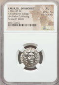 Ancients:Greek, Ancients: CARIAN ISLANDS. Rhodes. Ca. 250-229 BC. AR didrachm (6.84gm). NGC AU 5/5 - 4/5....