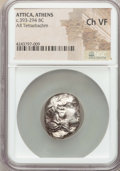 Ancients:Greek, Ancients: ATTICA. Athens. Ca. 393-294 BC. AR tetradrachm. NGCChoice VF....
