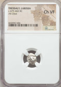Ancients:Greek, Ancients: THESSALY. Larissa. Ca. 479-460 BC. AR obol. NGC ChoiceVF....