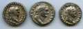 Ancients:Ancient Lots , Ancients: GROUP LOTS. Roman Imperial. Lot of three (3) Titus (AD79-81) AR denarii. About VF-VF.... (Total: 3 coins)