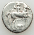 Ancients:Greek, Ancients: CALABRIA. Tarentum. Ca. 280-272 BC. AR stater or didrachm(6.32 gm). About Fine....