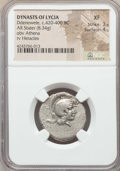 Ancients:Greek, Ancients: LYCIAN DYNASTS. Ddenewele (ca. 420-400 BC). AR stater(8.34 gm). NGC XF 3/5 - 4/5....