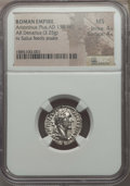 Ancients:Roman Imperial, Ancients: Antoninus Pius (AD 138-161). AR denarius (3.25 gm). NGCMS 4/5 - 4/5. ...