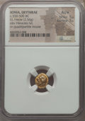 Ancients:Greek, Ancients: IONIA. Erythrae. Ca. 550-500 BC. EL hecte (2.56gm). NGC AU ★ 5/5 - 5/5....