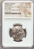 Ancients:Greek, Ancients: ATTICA. Athens. Ca. 440-404 BC. AR tetradrachm (17.21gm). NGC Choice AU 4/5 - 4/5....
